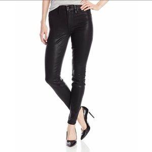 Level 99 Tanya High Rise Skinny Coated Black Jeans